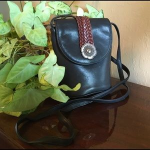 BRIGHTON ONE WORLD black & brown crossbody